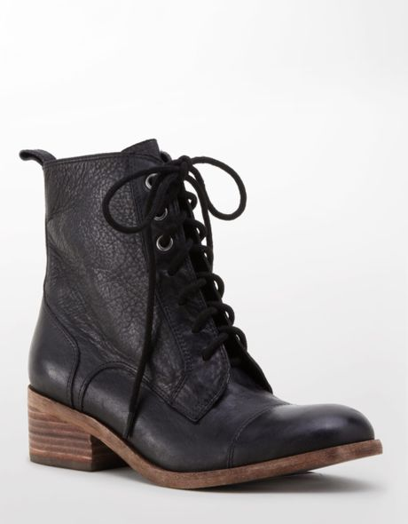 dolce vita jasper leather boots in black black lether lyst