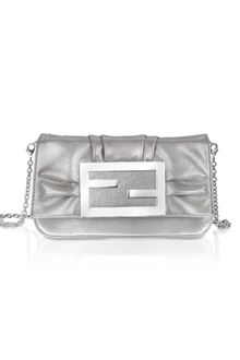 Fendi Mia - Laminated Leather Small Baguette Bag W/chain Strap - Lyst