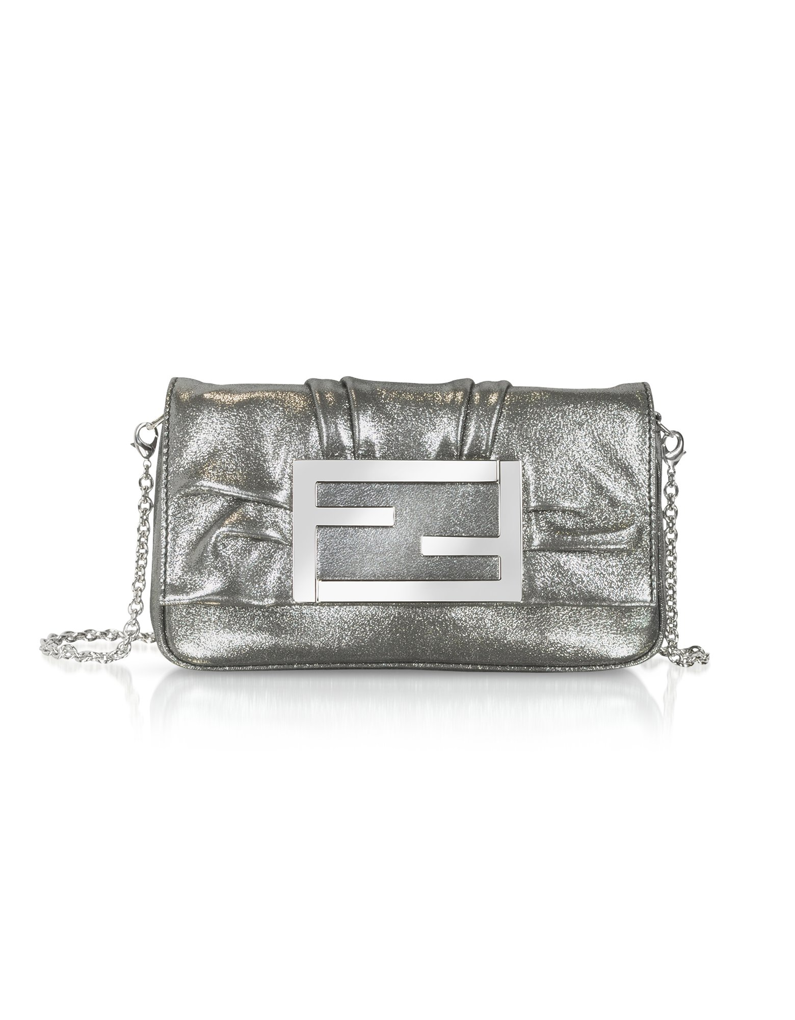 ... Lyst - Fendi Mia - Laminated Leather Small Baguette Bag Wcha the best  attitude 85a30 b7c56 ... fb83988a220b1