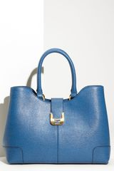 Fendi Chameleon Calfskin Leather Shopper - Lyst