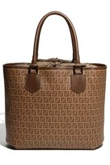 Fendi Forever Drawstring Shopper in Brown (nut) - Lyst