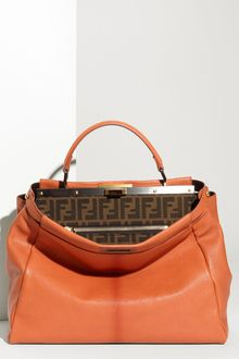 Fendi Peekaboo - Large Goatskin Leather Satchel - Lyst