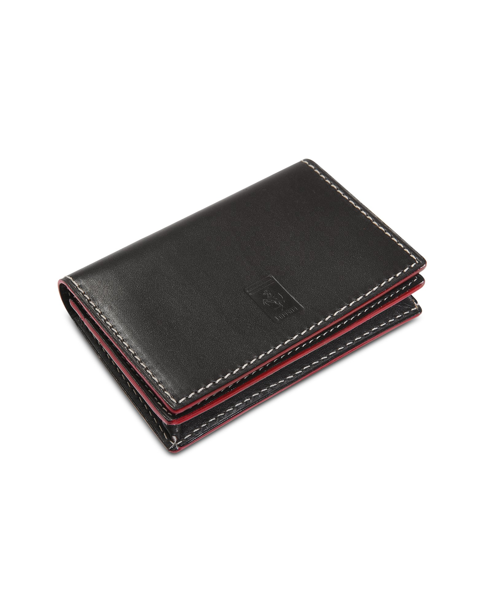 Lyst Ferrari Leather Business Card Holder In White
