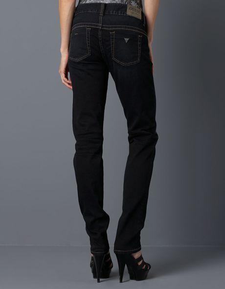 Guess black daredevil sky skinny jeans in black black blue lyst