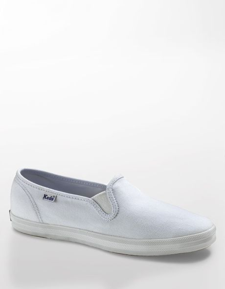 keds chion slip on sneakers in white white canvas lyst