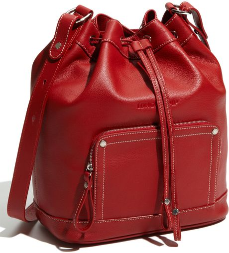 Longchamp Leather Crossbody Bag in Brown (red) - Lyst