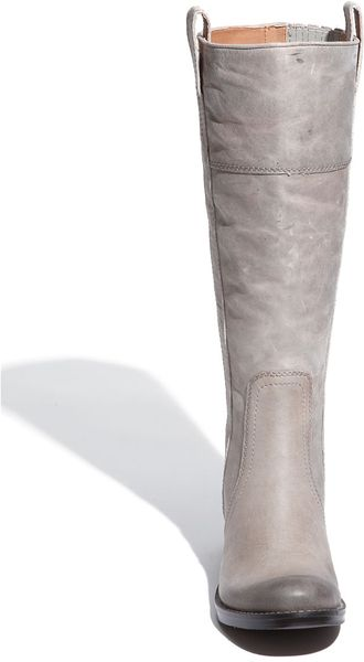 Lucky Brand Hibiscus Leather Riding Boots In Silver Light