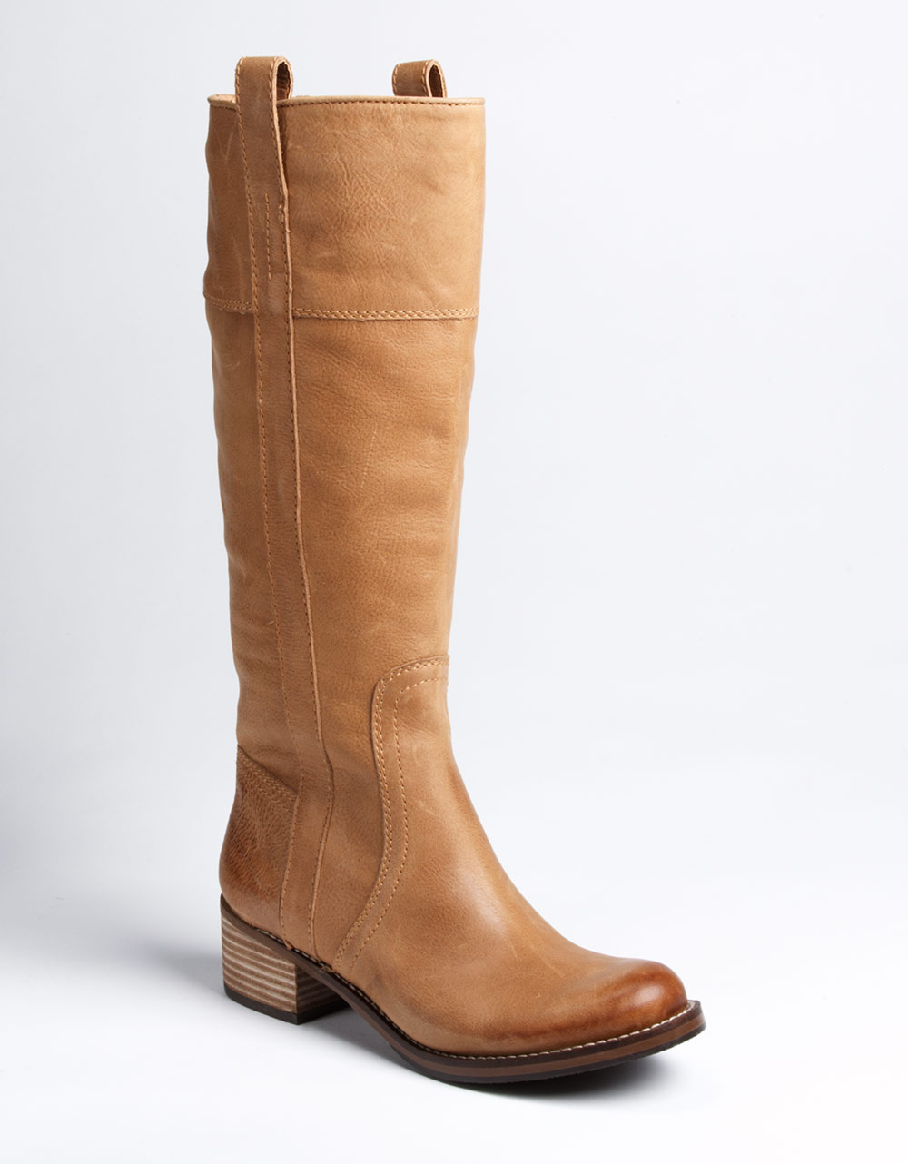 lucky brand hibiscus boots in brown leather lyst