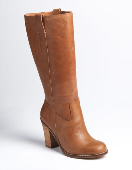 lucky brand maidie boots in brown leather lyst