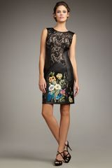 Mandalay Lace & Leather Embroidered Dress - Lyst