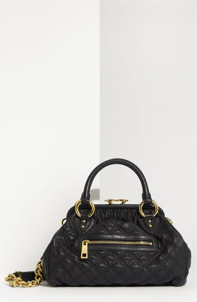 Marc Jacobs Quilting Mini Stam Satchel in Black - Lyst