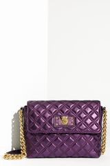 Marc Jacobs The Large Single Shoulder Bag in Purple (metallic violet) - Lyst