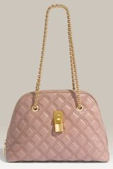 Marc Jacobs Lacquered Quilting Madison Satchel - Lyst