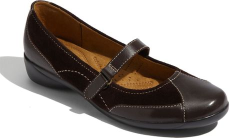 Naturalizer Nona Mary Jane Flat in Brown (brown leather) - Lyst