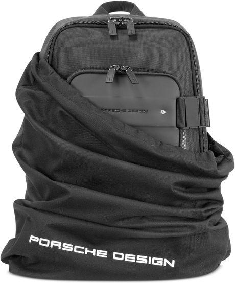 porsche design cargon 2 0 black front pocket backpack in. Black Bedroom Furniture Sets. Home Design Ideas
