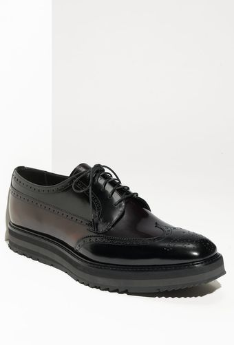 Prada High Shine Wingtip Oxford (men) - Lyst