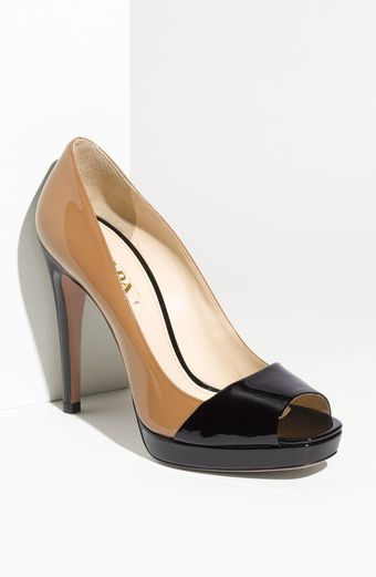 Prada Open Toe Pump - Lyst