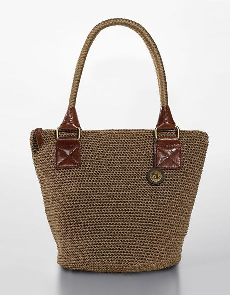 Crochet Bucket Bag : The Sak Cambria Crochet Bucket Tote Bag in Brown (taupe) Lyst