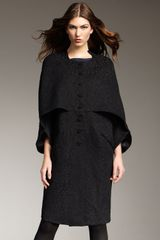 Theyskens' Theory Textured Cape-panel Overcoat - Lyst
