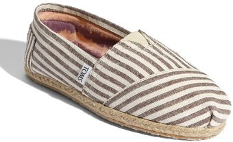 Toms Classic Stripe Rope Sole Slip-on (women) - Lyst