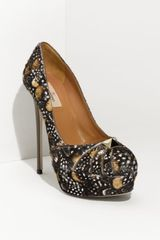 Valentino Rockstud Feather Print Calf Hair Pump - Lyst