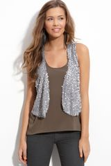 Wallpapher Sequin Vest (juniors) - Lyst