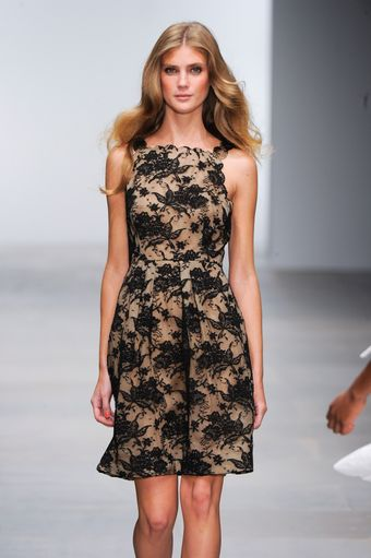 Issa Spring 2012 Black Lace Sleeveless Dress - Lyst