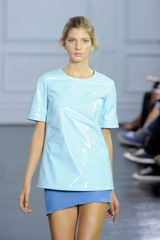 Richard Nicoll Spring 2012 Mini Asymmetrical Skirt In Blue