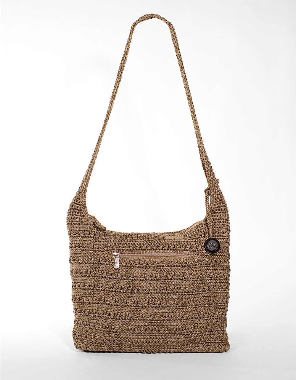 The Sak Bags Crochet : The Sak Marlboro Crochet Shoulder Bag in Brown (taupe) Lyst