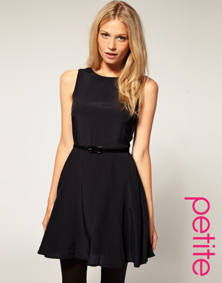 asos collection asos skater dress with belt in