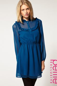 ASOS Collection Asos Petite Exclusive Dress with Ruffle Bib Waist - Lyst