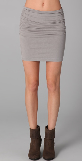 James perse Ruched Pencil Skirt in Natural | Lyst