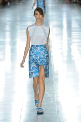 Christopher Kane Spring 2012 Blue Flower Print Flat Sandals - Lyst