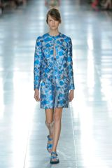 Christopher Kane Spring 2012 Blue Flower Print Flat Sandals in Blue - Lyst