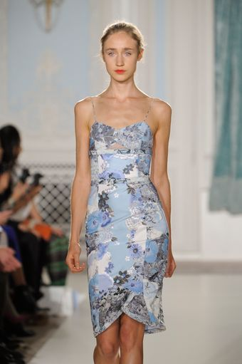 Erdem Spring 2012 Strap Dress With Blue Floral Print - Lyst