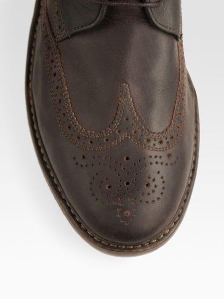 Florsheim Brogue Boot Broken-in Brogue Boots in