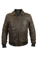 Forzieri Mens Dark Brown Chevrette Motorcycle Jacket - Lyst