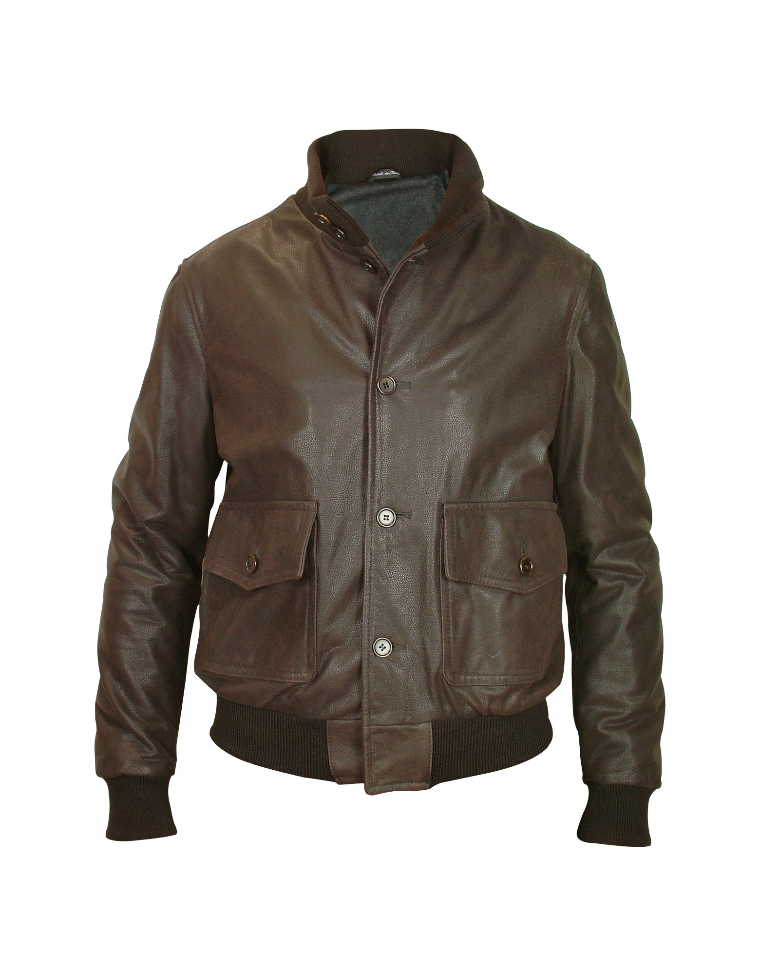 Forzieri Mens Dark Brown Leather Two-pocket Jacket In Brown For Men | Lyst