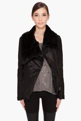 Helmut Lang Flux Fur Spanish Rabbit Reversible Jacket in Black - Lyst