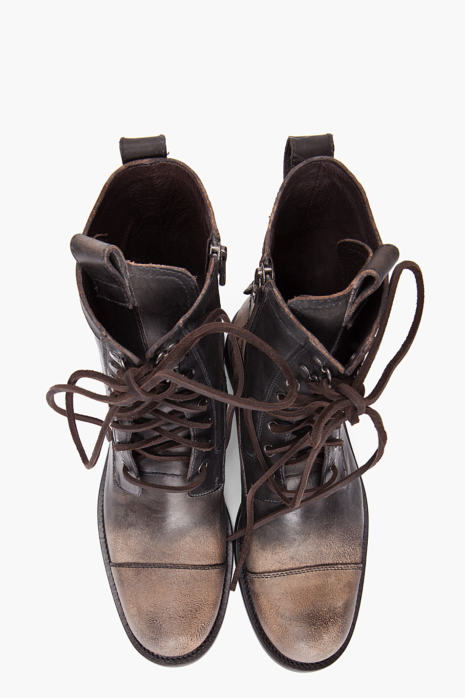 6c40c25cba John Varvatos Combat Boots in Brown for Men - Lyst