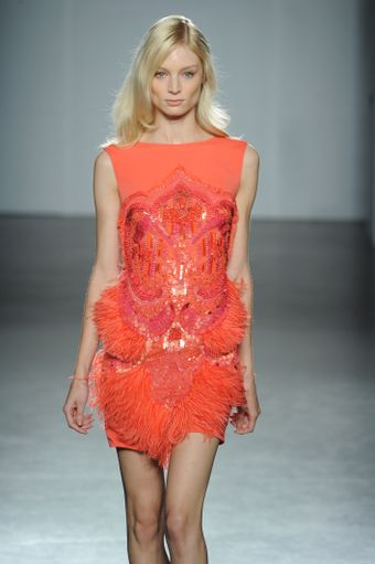 Matthew Williamson Spring 2012 Sequin and Fringe Mini Dress - Lyst