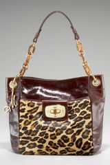 Milly Penelope Patent Leather and Calf Hair Tote - Lyst