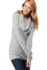 Splendid Thermal Cowl Neck Tunic - Lyst