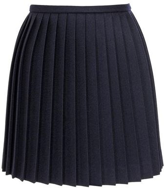 Alexander McQueen Pleated Virgin Wool Mini-skirt - Lyst