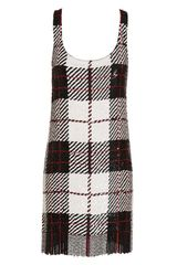 Ashish Sequin Tartan Dress with Fringing in Multicolor (black white) - Lyst