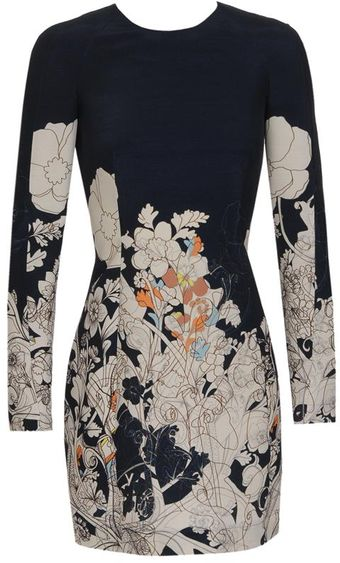 Cacharel Illustrated Wool-silk Dress - Lyst