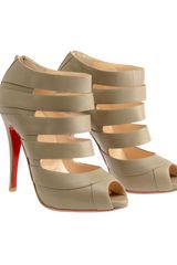 Christian Louboutin Gril Cutout Leather Shoe Boots in Gray (grey) - Lyst