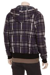 Christopher Kane Tartan Printed Cotton Fleece Hoodie in Blue for Men (navy) - Lyst