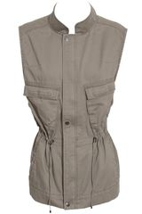 Club Monaco Thora Sleeveless Cotton Parka - Lyst