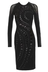 David Koma Tight Fitted Long Dress in Polyester Jersey - Lyst